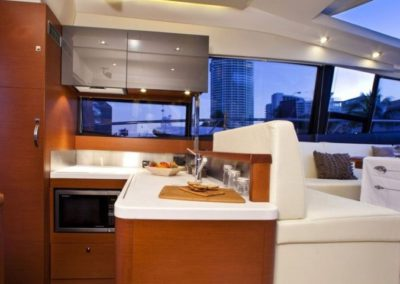 50 Prestige yacht galley