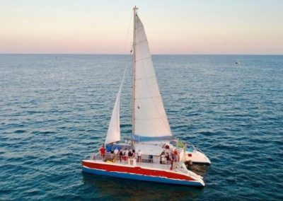 50 Sailing party catamaran on charter in Miami