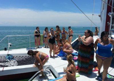 50 Sailing catamaran paraty on deck