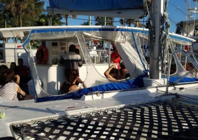 50 Sailing party catamaran deck with full service