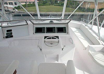 52 Viking sportfish yacht flybridge helm