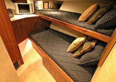 52 Viking sportfish yacht bunk beds cabin