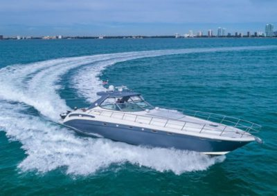 54 Searay yacht cruising in Miami