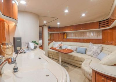 54 Searay yacht galley and salon
