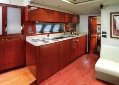 54 Searay yacht galley