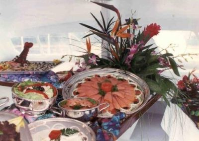 55 Sailing party Catamaran food display