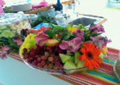 55 Sailing party Catamaran fruit display