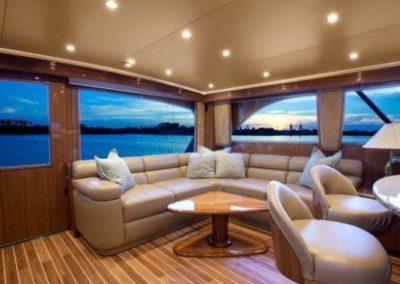 55 Viking sportfish yacht salon lounge
