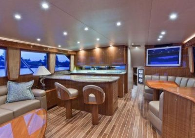 55 Viking sportfish yacht salon galley and dining
