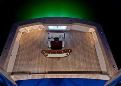 55 Viking sportfish yacht aft deck fighting chair