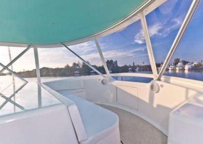 55 Viking sportfish yacht flybridge seating