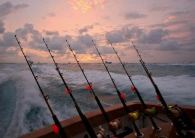 55 Viking sportfish charter yacht rods for fishing