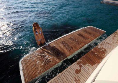 56 Prestige yacht at anchor in Miami
