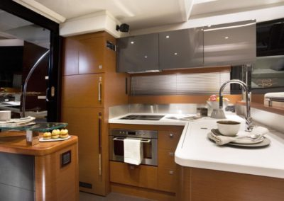 56 Prestige yacht galley