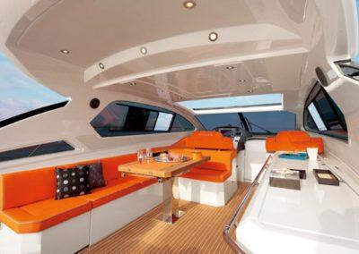 58 Azimut yacht deck dining