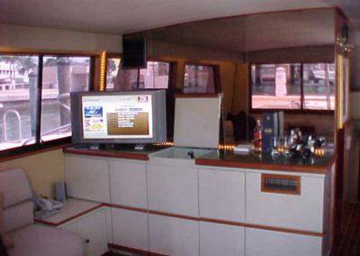 60 Hatteras sportfish yacht galley