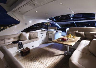 60 Sunseeker yacht spacious deck