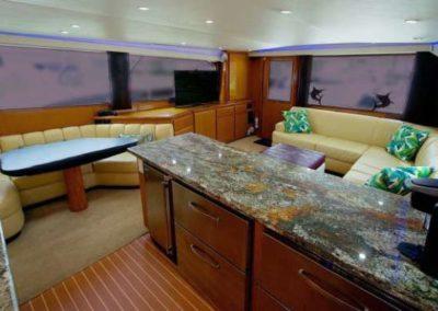 60 Viking sportfish yacht salon dining