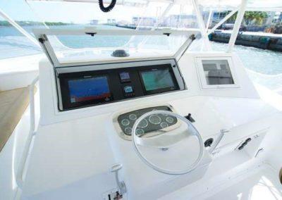 60 Viking sportfish charter yacht flybridge helm
