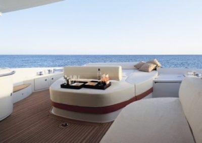 62 Azimut yacht aft deck sunpads