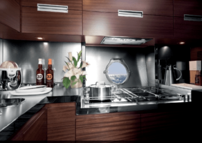 62 Azimut yacht galley