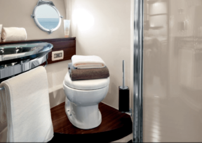62 Azimut yacht bathroom and shower