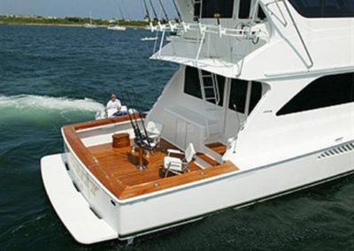 62 Viking sportfish yacht aft deck