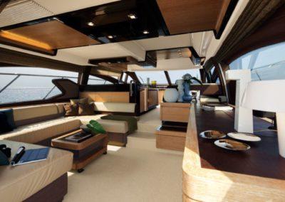 64 Azimut yacht salon