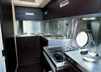 68 Azimut yacht galley