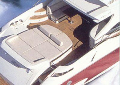 68 Azimut yacht aft sunpads