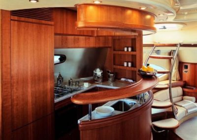 68 Azimut yacht salon galley