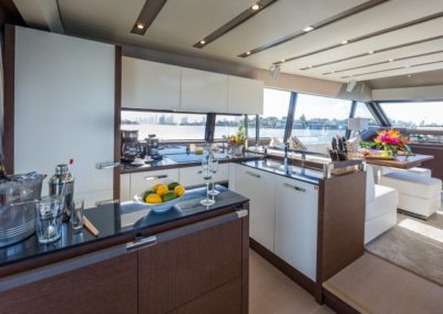 70 Prestige yacht galley