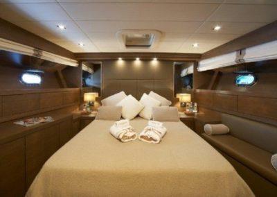 72 Mangusta yacht master stateroom