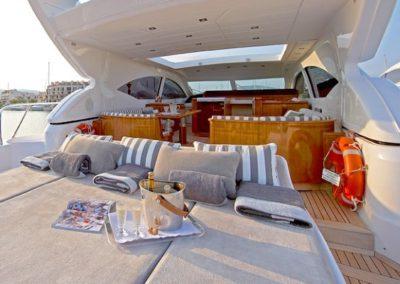 72 Mangusta Miami rental yacht