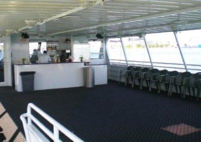 74 Skipperliner party yacht upper deck open bar