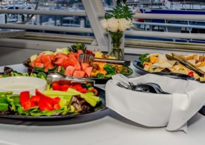 74 Skipperliner party yacht fruit and cheese display