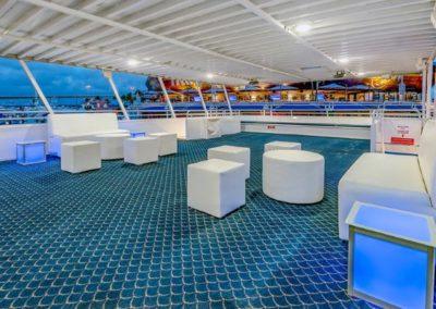 74 Skipperliner party yacht open deck lounge