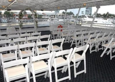 74 Skipperliner party yacht ceremony seating arrangement
