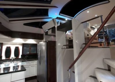 75 Lazzara yacht galley