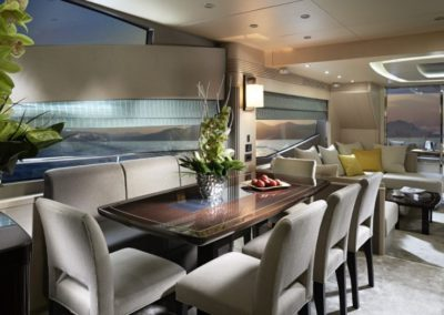 75 Sunseeker yacht dining
