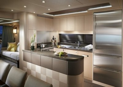 75 Sunseeker yacht galley