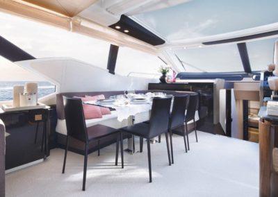 77 Azimut yacht dining