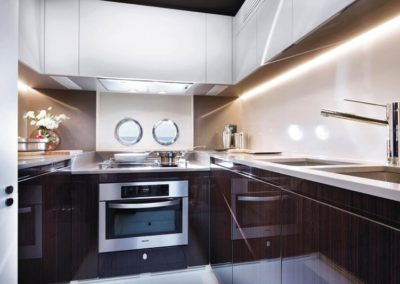 77 Azimut yacht galley