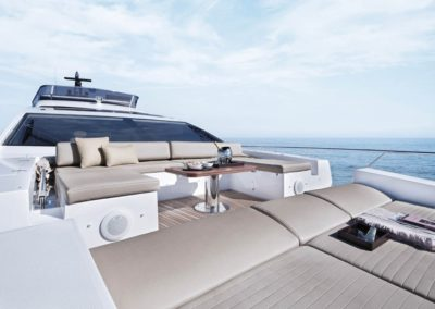 77 Azimut yacht bow sunpads
