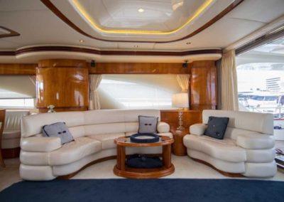 80 Azimut yacht salon lounge