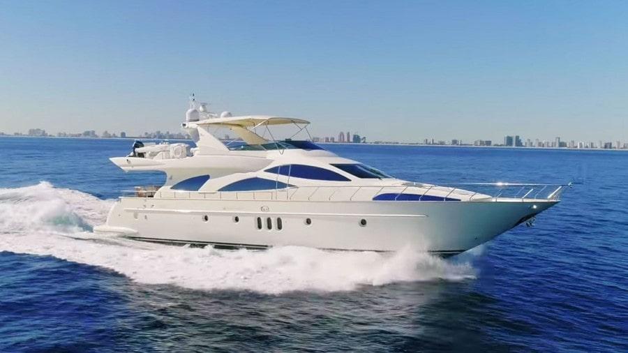 80 Azimut luxury charter motor yacht