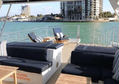 80 Hatteras party yacht flybridge