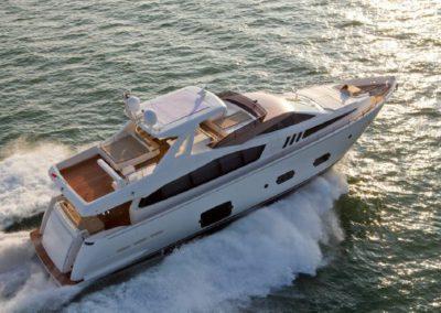 81 Ferretti Miami charter yacht