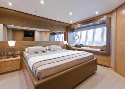 81 Ferretti yacht master stateroom