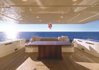 81 Ferretti yacht aft deck
